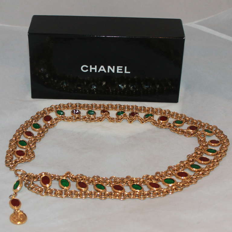 Chanel Goldtone Gripoix Chain Belt - Circa Late 70's - Runway piece 6