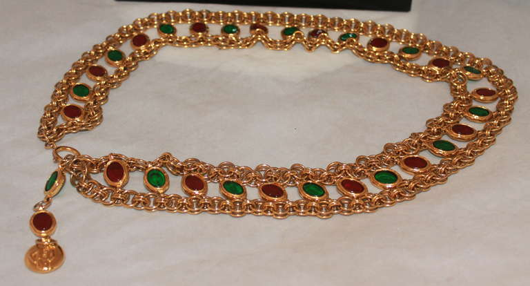 Chanel Goldtone Gripoix Chain Belt - Circa Late 70's - Runway piece 7