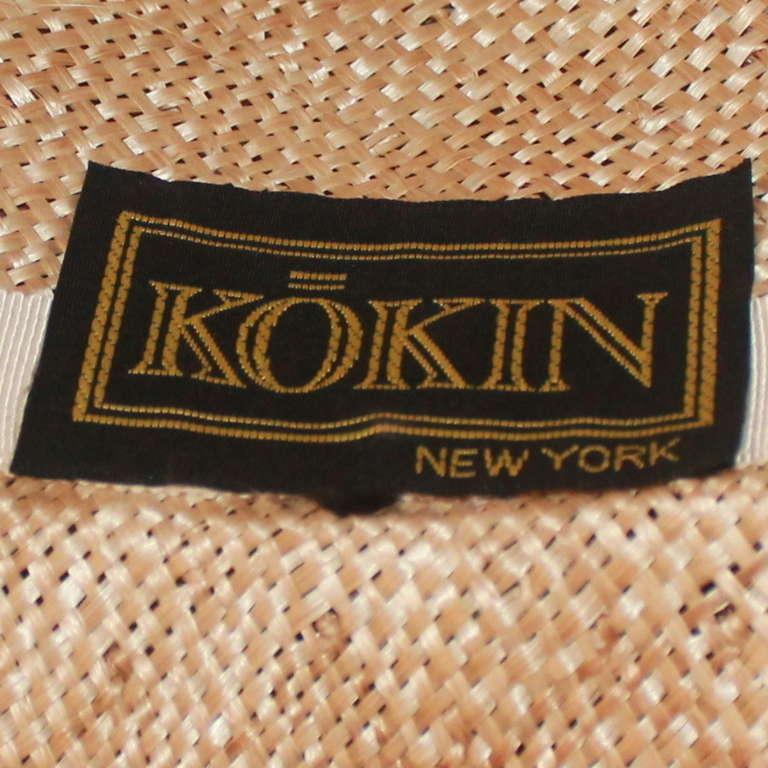 Kokin New York Flower Veiled Hat - circa 1980s For Sale 1