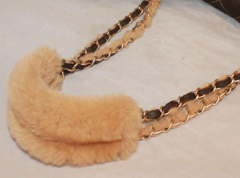 Chanel Brown Quilted Mini Shearling Handbag - Circa 2005 3