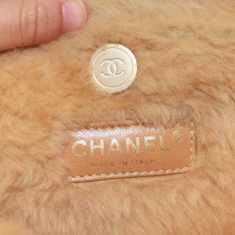 Women's Chanel Brown Quilted Mini Shearling Handbag - Circa 2005 For Sale