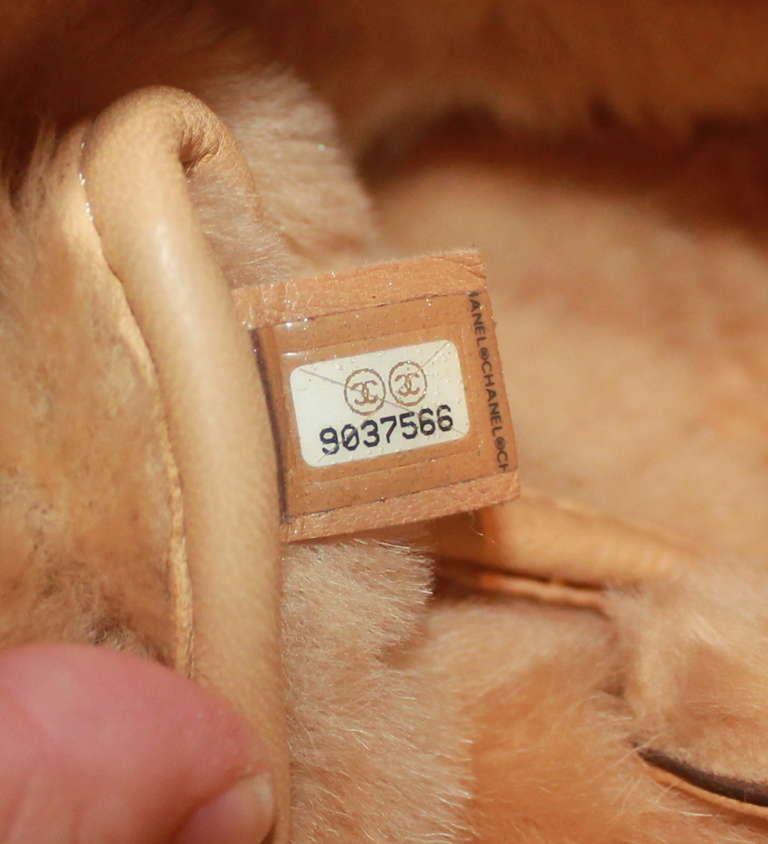 Chanel Brown Quilted Mini Shearling Handbag - Circa 2005 6