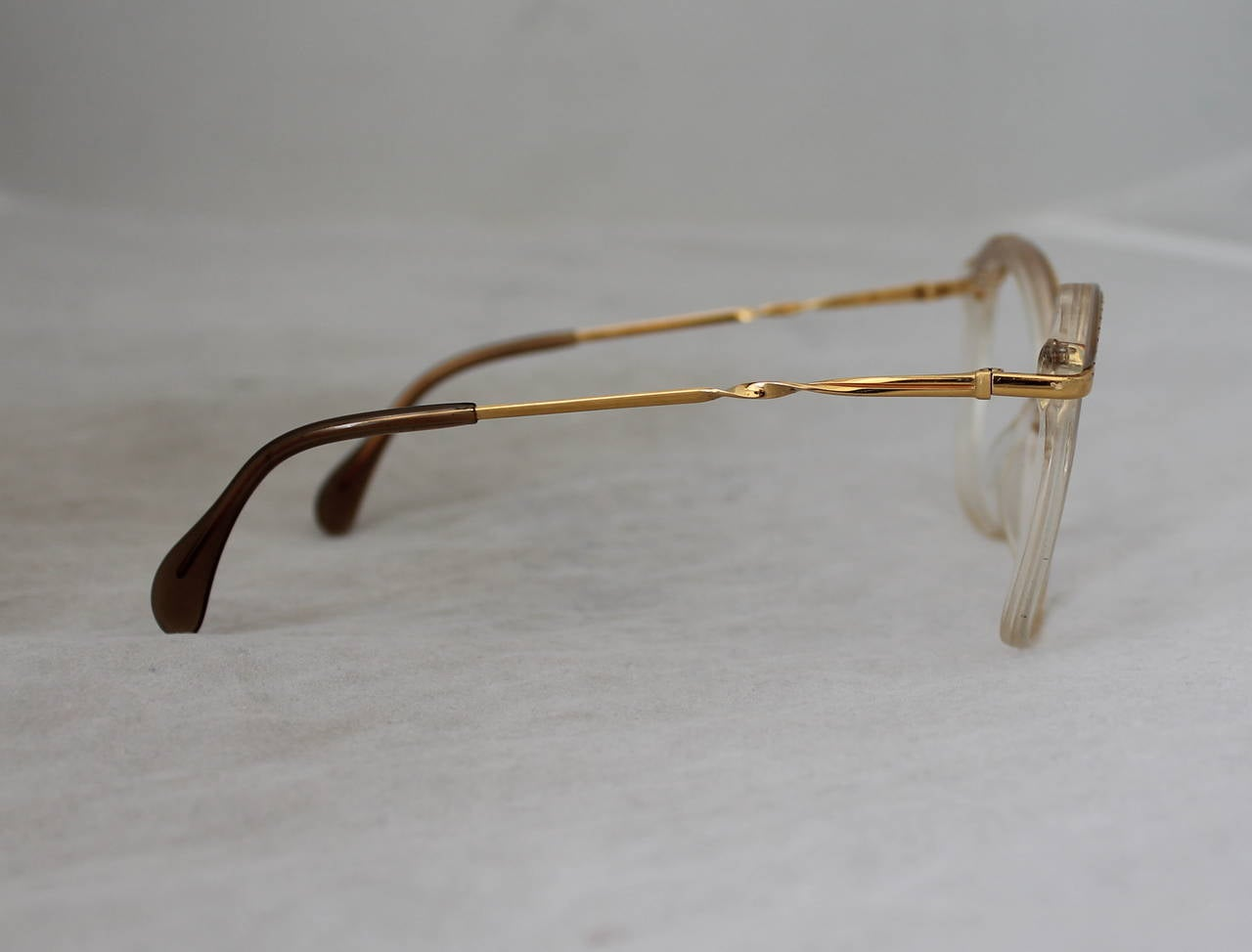 Gray Vintage 1970s Gemini Gold Tone Frames For Sale