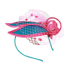 Herald & Heart Pink & Turquoise Fascinator Hat