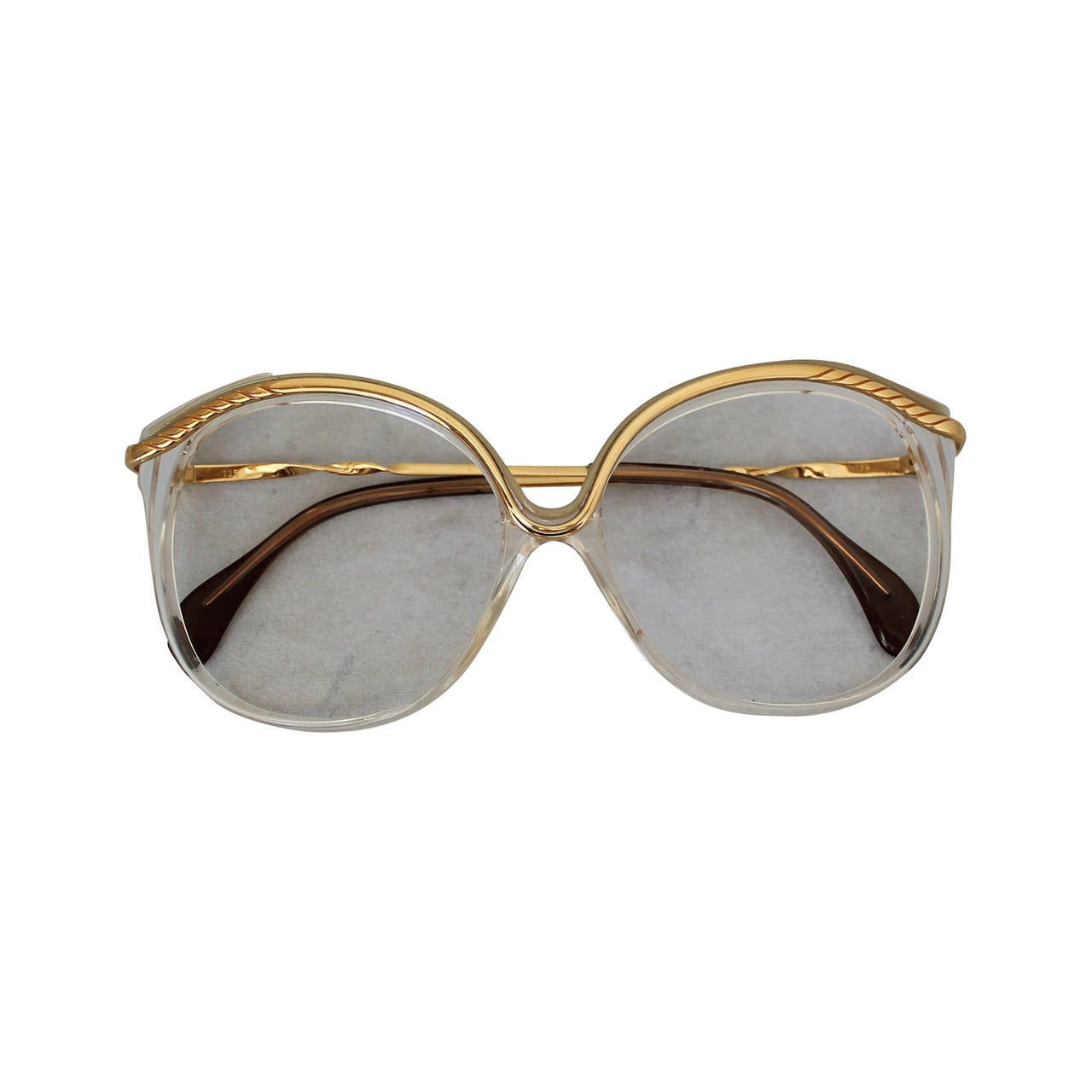 Vintage 1970s Gemini Gold Tone Frames For Sale