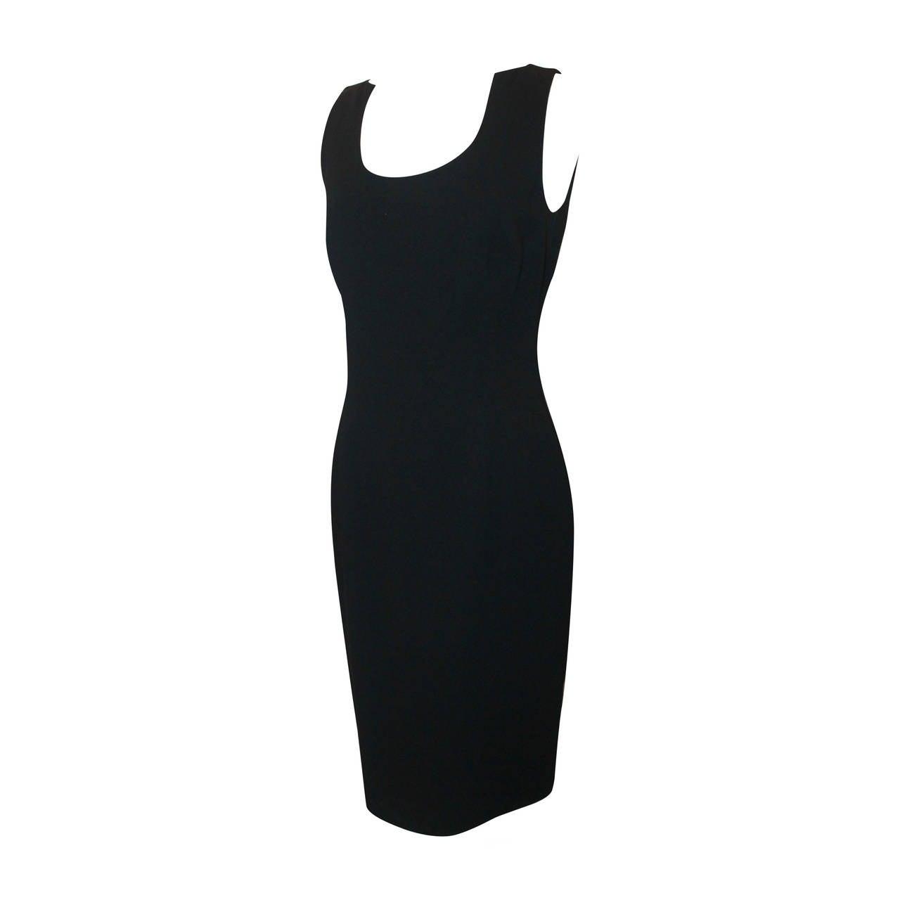 Chado Black Wool Tapered Dress  - 8