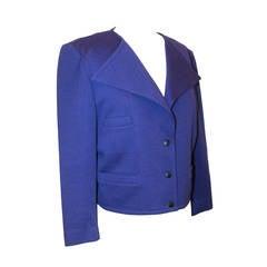 Sonia Rykiel 1980's Vintage Royal Purple Wool Jacket - M