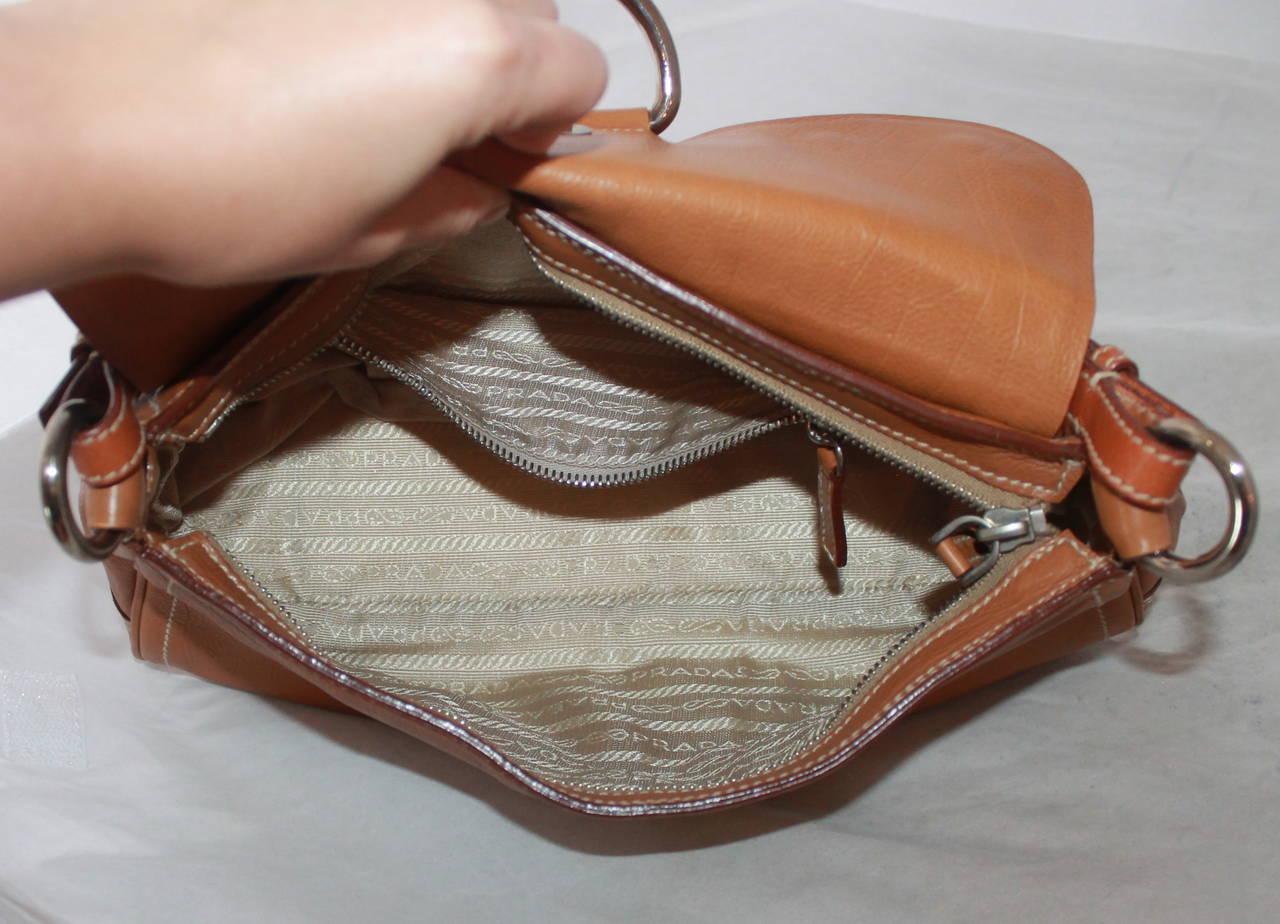 prada bag discount - Prada Luggage Leather Gold and Silver Studded Shoulder Bag at 1stdibs