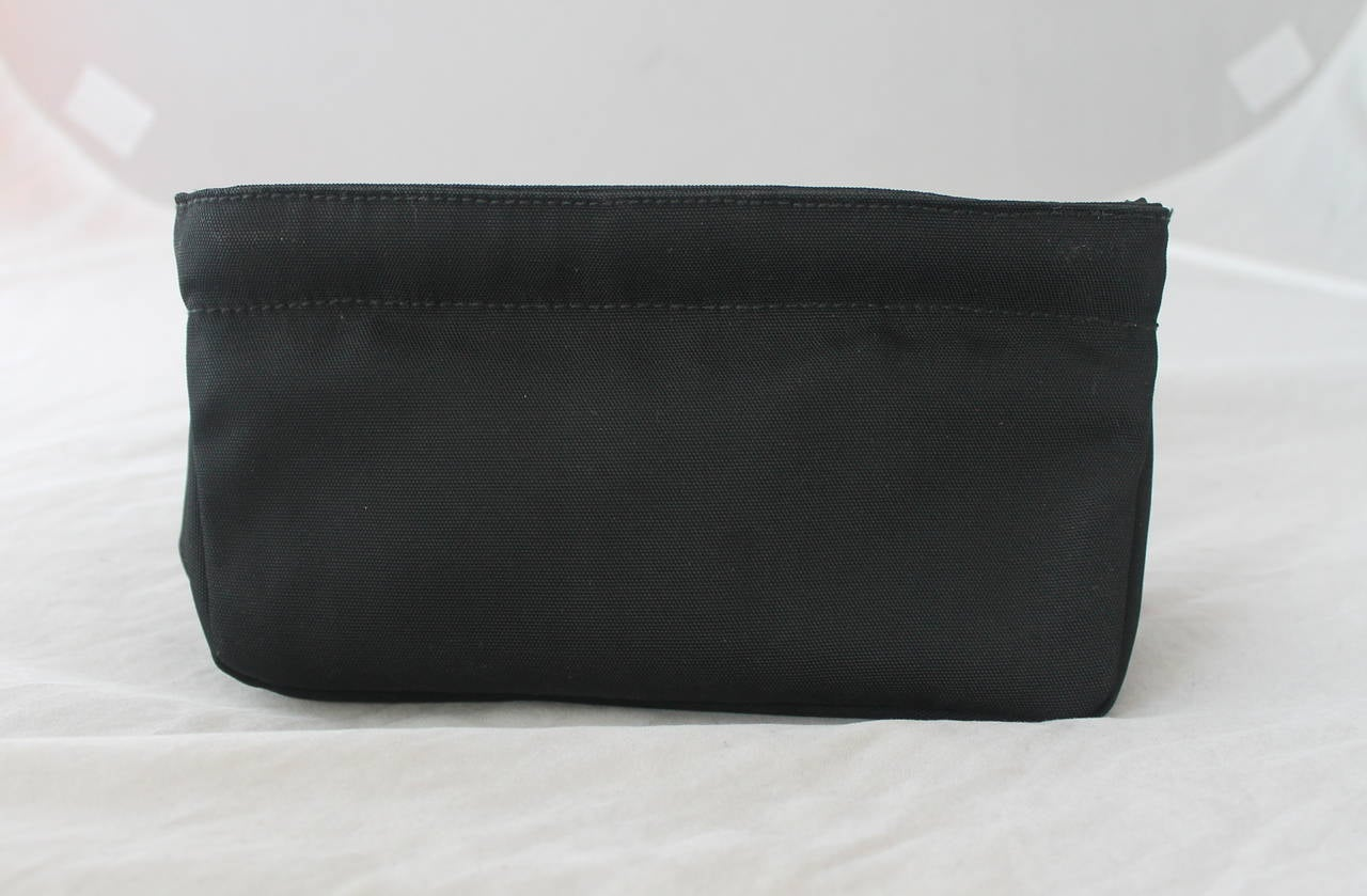 gucci black nylon solid cosmetic case at 1stdibs