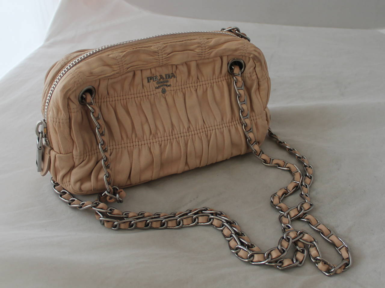 prada gold chain bag