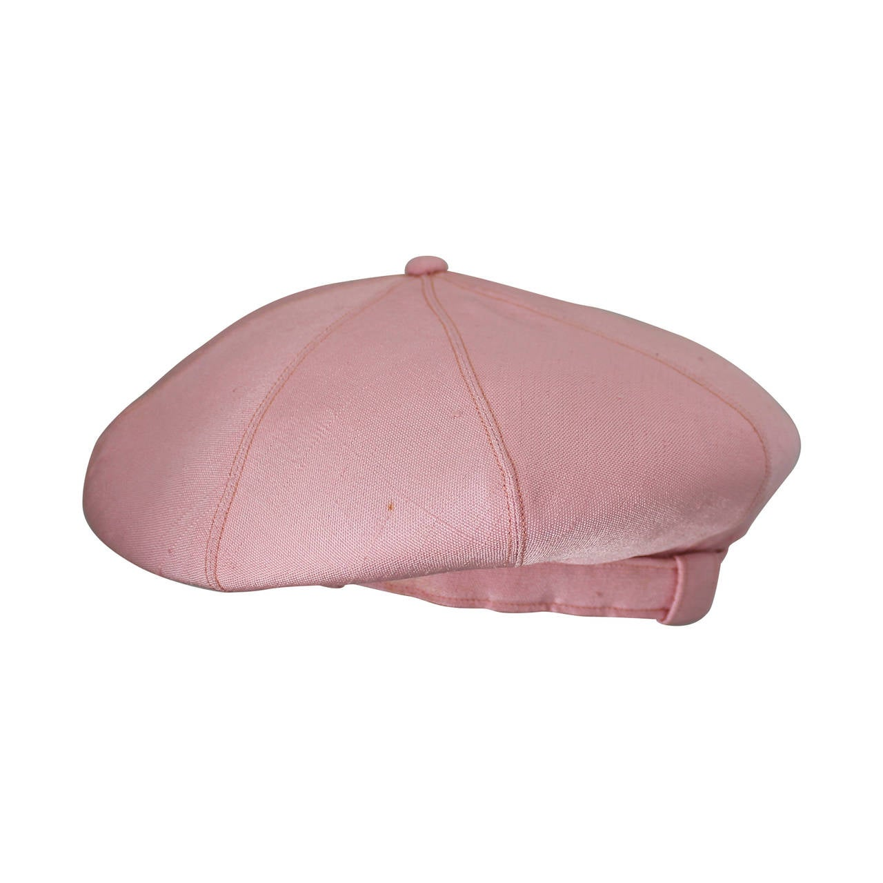 Norman Norell 1960's Vintage Silk Pink Driving Cap 1