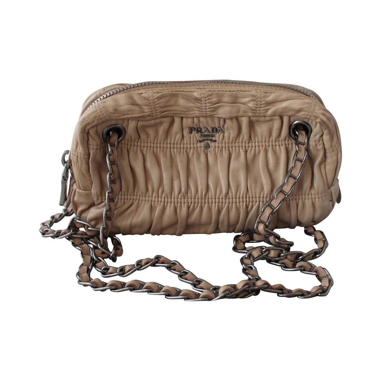 prada patent leather shoulder bag