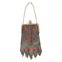 Edwardian Vintage Whiting & Davis Dresden Multi-Color Mesh Bag