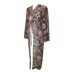 Armani 1990's Vintage Multi-Color Brocade Paisley Embroidered Coat - 40