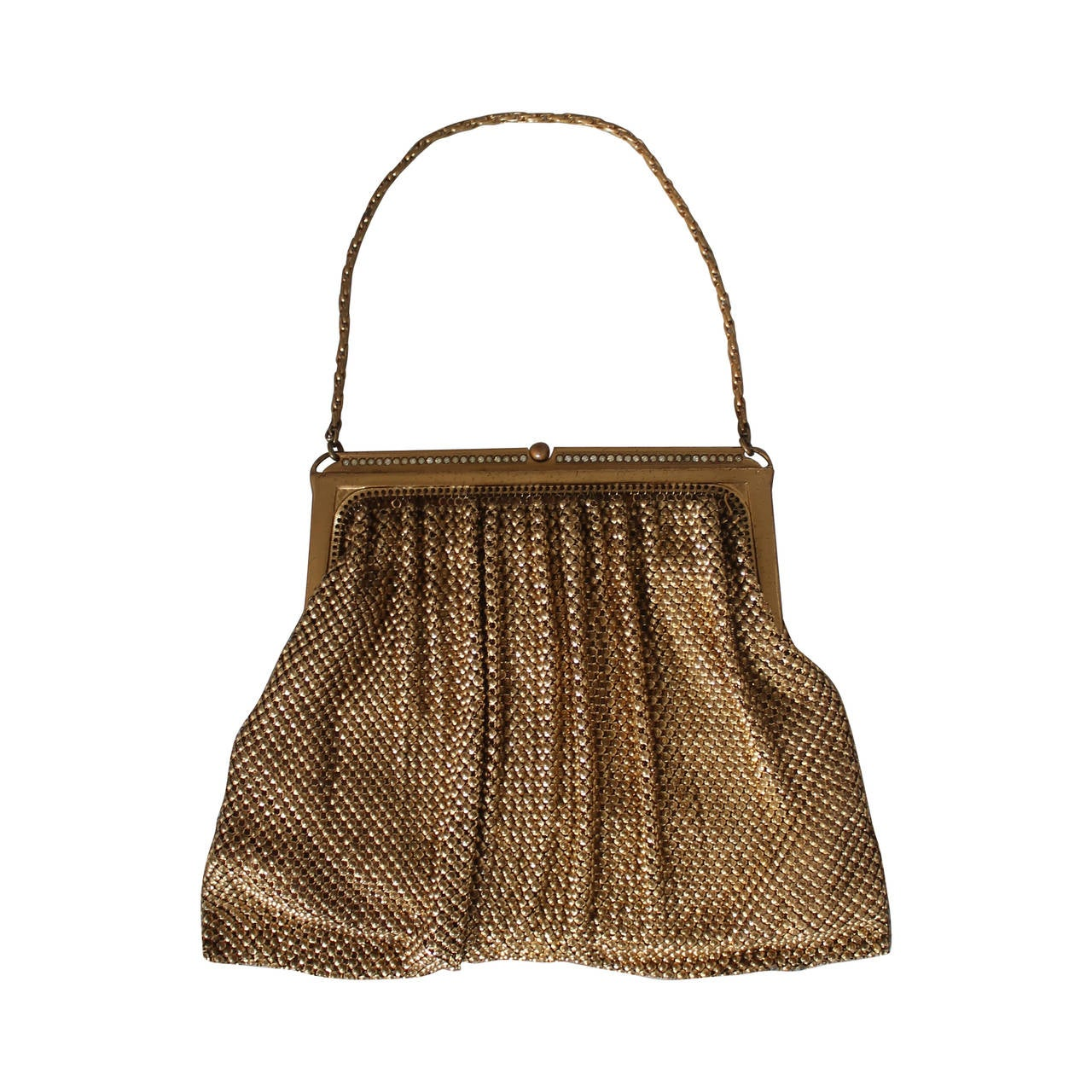 1940 s vintage whiting and davis gold mesh bag with
