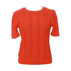 Courreges Vintage Orange Crewneck Top - M
