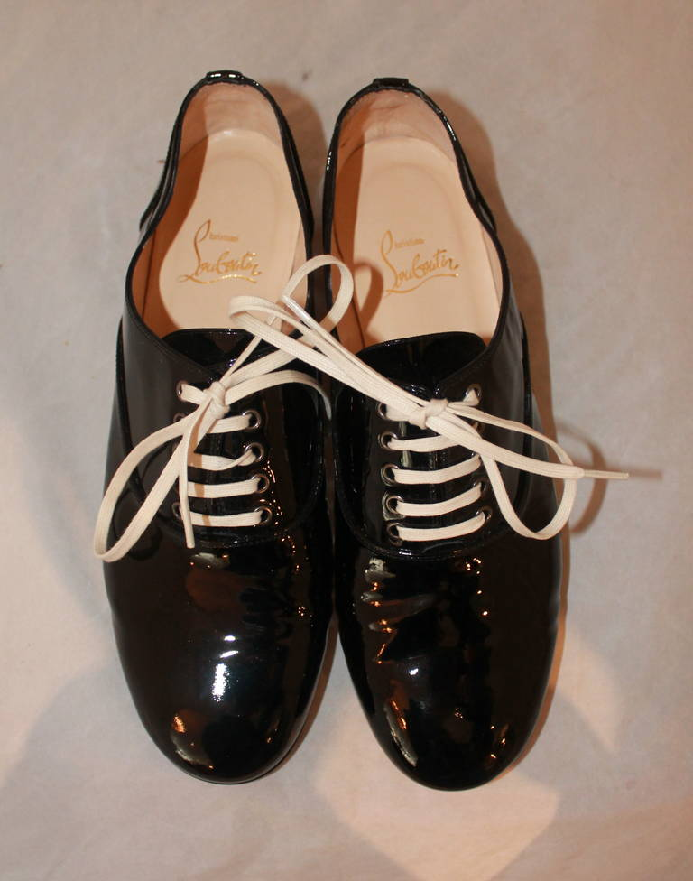 Christian Louboutin Black Patent Oxfords - 38.5 2