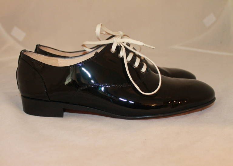 Christian Louboutin Black Patent Oxfords - 38.5 3