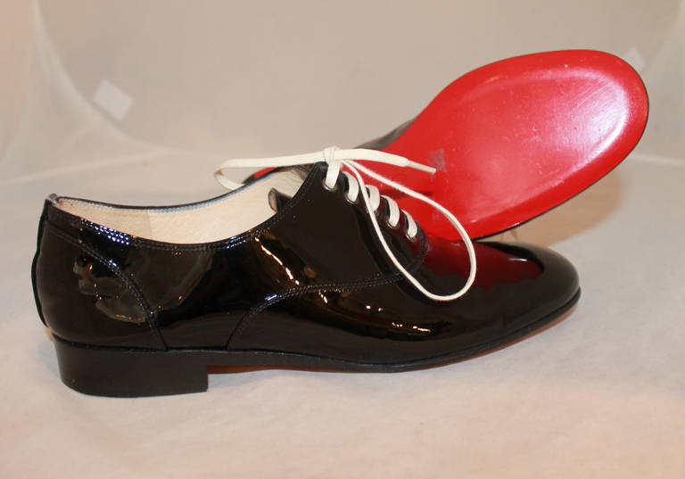 Christian Louboutin Black Patent Oxfords - 38.5 4