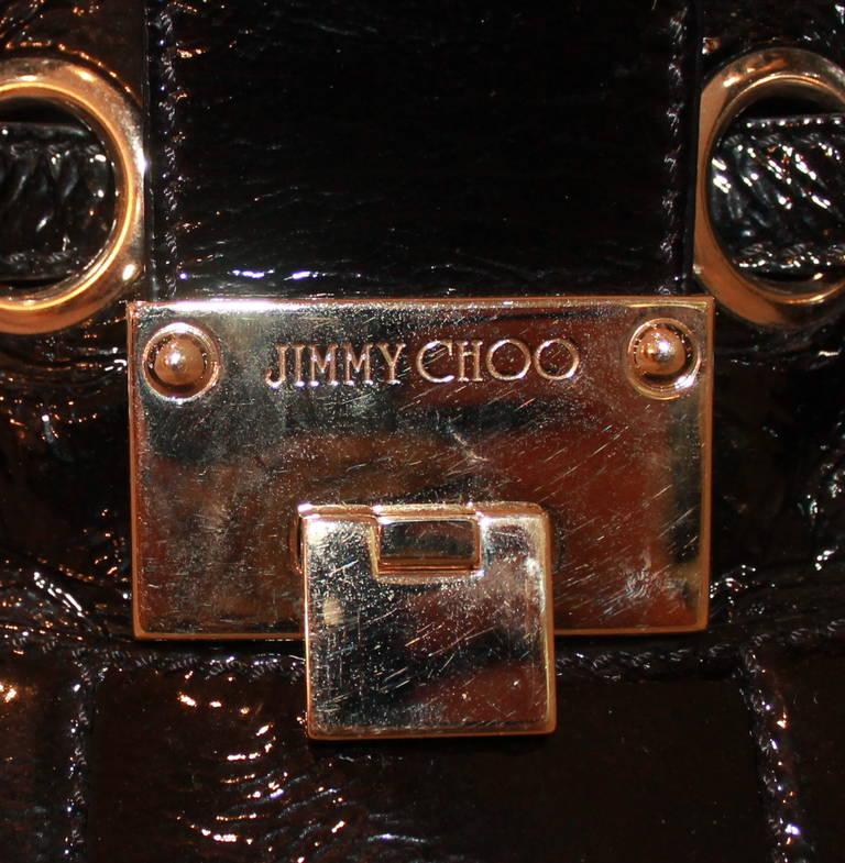 Women's Jimmy Choo Black Patent Ramona Handbag For Sale