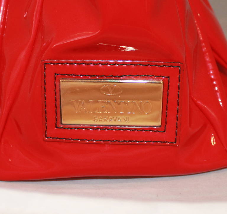 Women's Valentino Red Plastic Bow Bag For Sale