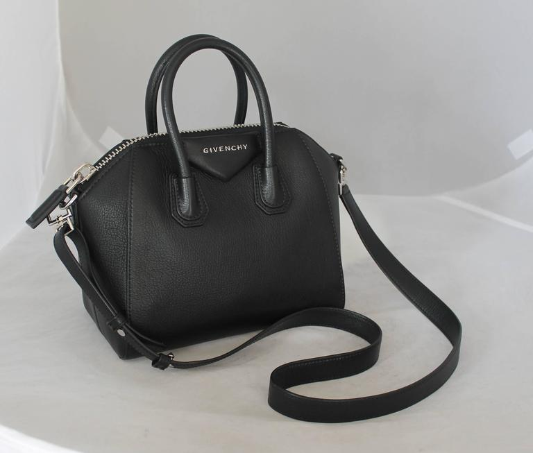 Givenchy Black Leather Mini Antigona Top Handle Crossbody Bag Shw The Has Slight