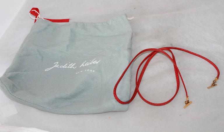 Judith Leiber 1970's Vintage Red Karung Snake Evening Bag  For Sale 4