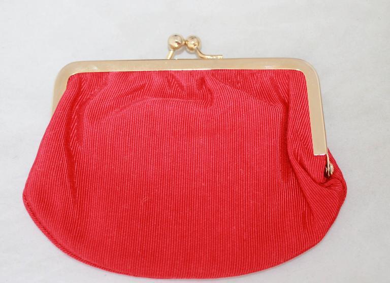 Judith Leiber 1970's Vintage Red Karung Snake Evening Bag  For Sale 1