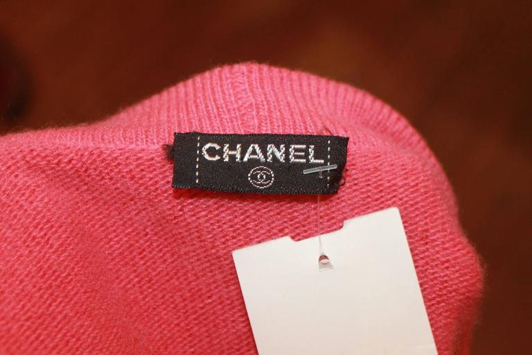 Chanel Vintage Coral Cashmere Cardigan with Cinched Bottom- circa 1980's - M 7