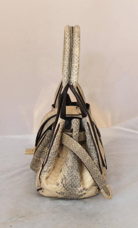 Jimmy Choo Beige Python Small Shoulder Bag 3