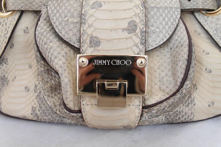 Jimmy Choo Beige Python Small Shoulder Bag 6