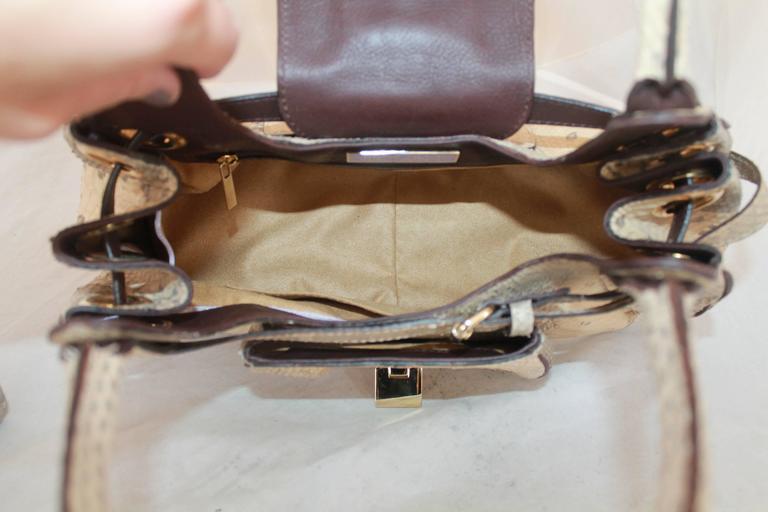 Jimmy Choo Beige Python Small Shoulder Bag 8
