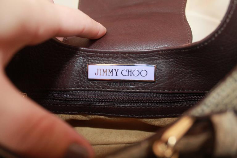Jimmy Choo Beige Python Small Shoulder Bag 9
