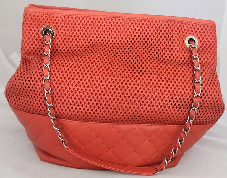"Chanel Coral Spring North/South ""Up in the Air"" Tote - circa spring 2013 3"