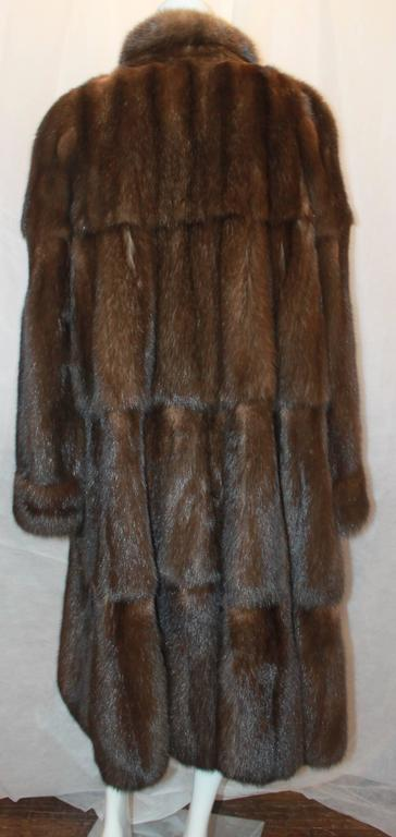 Valentino Vintage Brown Sable Fur Coat - L - circa 1980's In Excellent Condition For Sale In Palm Beach, FL