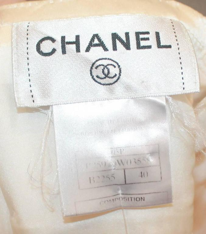 Chanel Ivory Silk Pleated Flapper Inspired Dress - 40 - 05P For Sale 2