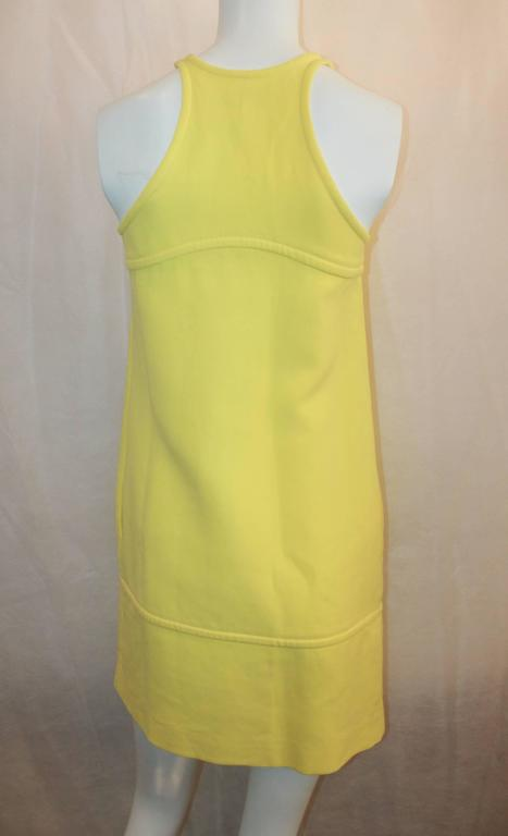 Women's Emilio Pucci New Yellow Halter Dress with Keyhole - 38 For Sale