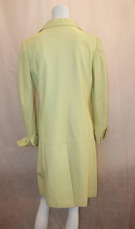 Women's Chanel Chartreuse Lambskin 3/4 Coat - 40 - 04C  For Sale