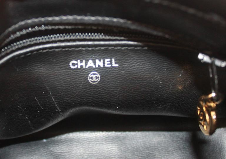 Chanel Black Patent Leather Makeup Case - GHW - Circa 1997 5