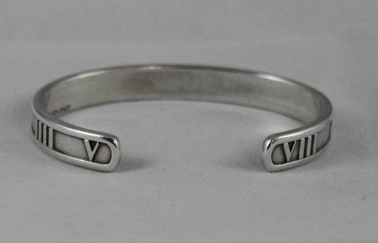 7d1db9bf3 Tiffany & Co. Sterling Silver Atlas Thin Cuff - 1995 In Excellent Condition  For Sale