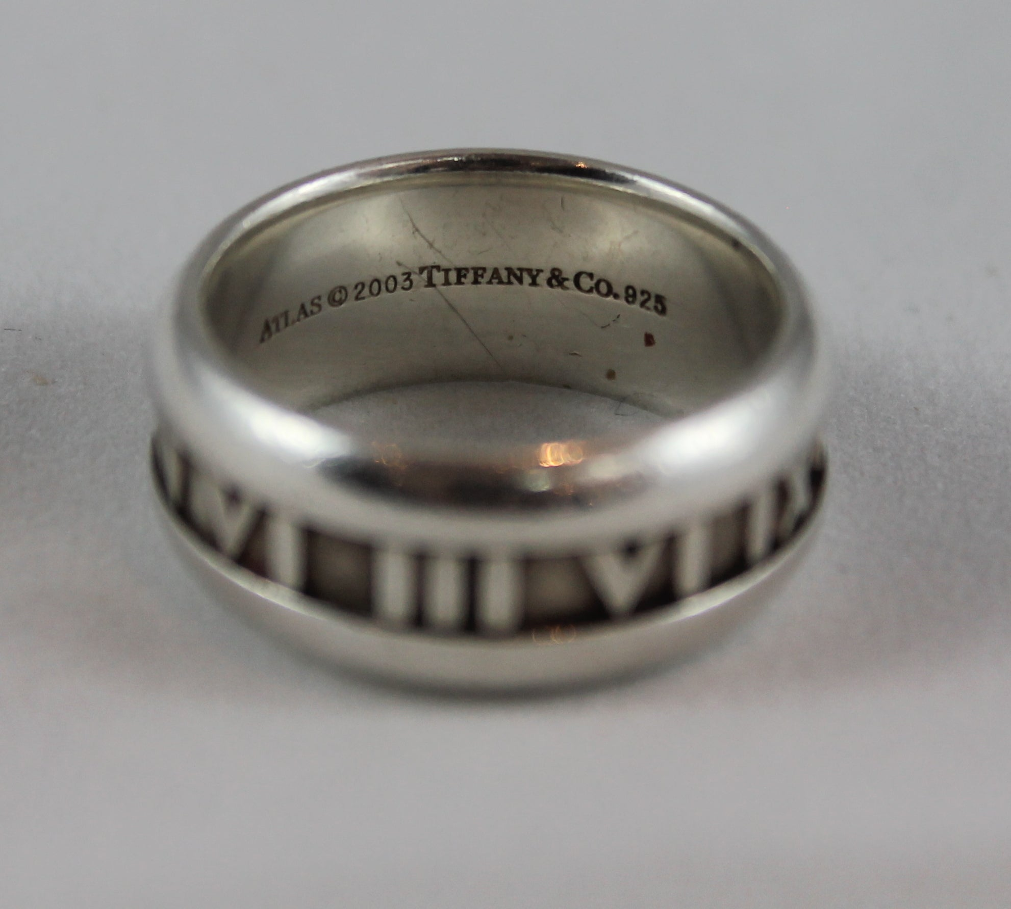 3266d3b9c Tiffany And Co Sterling Silver Atlas Ring 9 2003 At