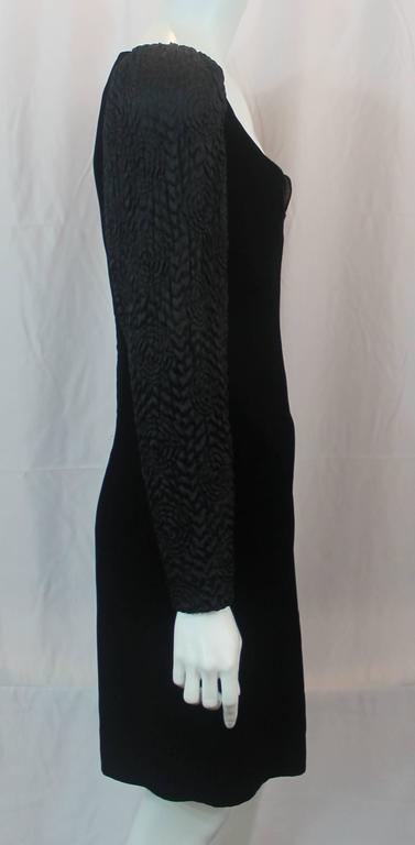 Adele Simpson Vintage Black Velvet and Silk Evening Dress - circa 1980s 3