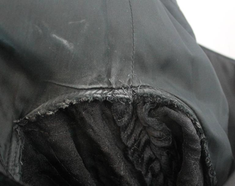 Adele Simpson Vintage Black Velvet and Silk Evening Dress - circa 1980s 6