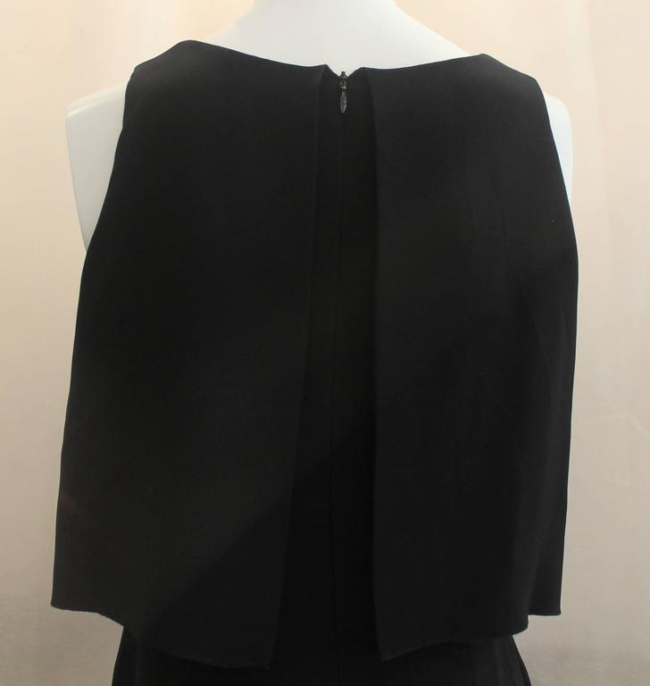 Chanel Black Silk Sleeveless Dress - 36 - 07A For Sale 2