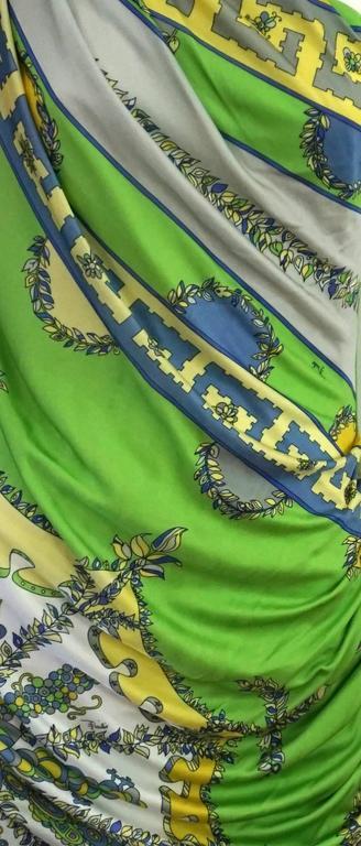 Emilio Pucci Green/Blue/Yellow One Shoulder Dress-42 4