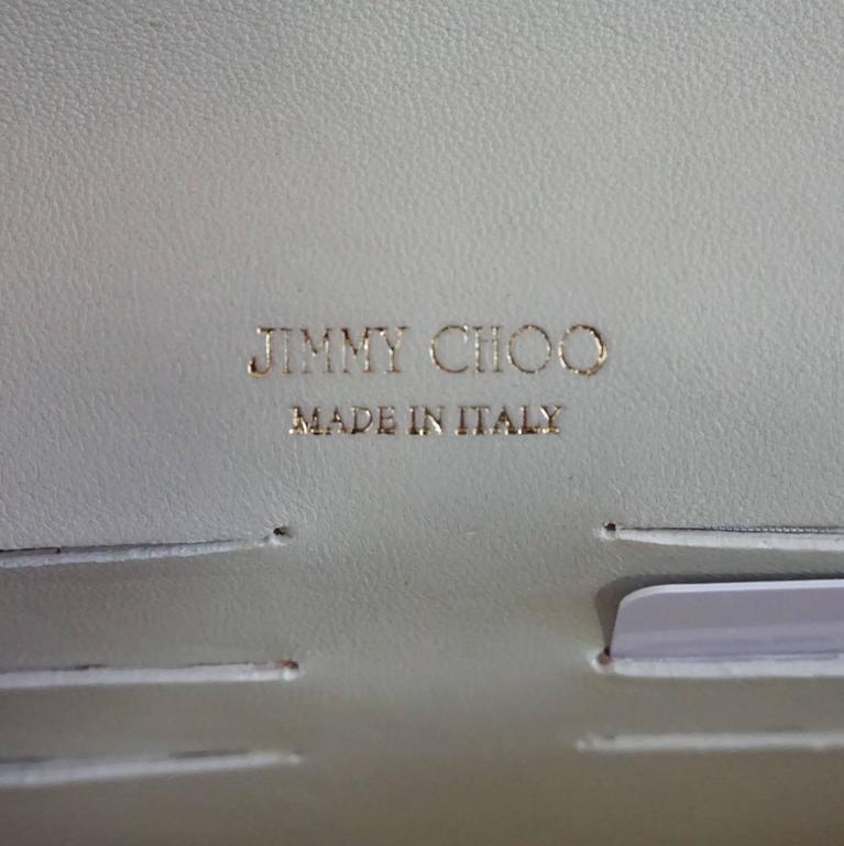 Jimmy Choo Earthtone Python Clutch with Strap - GHW For Sale 3