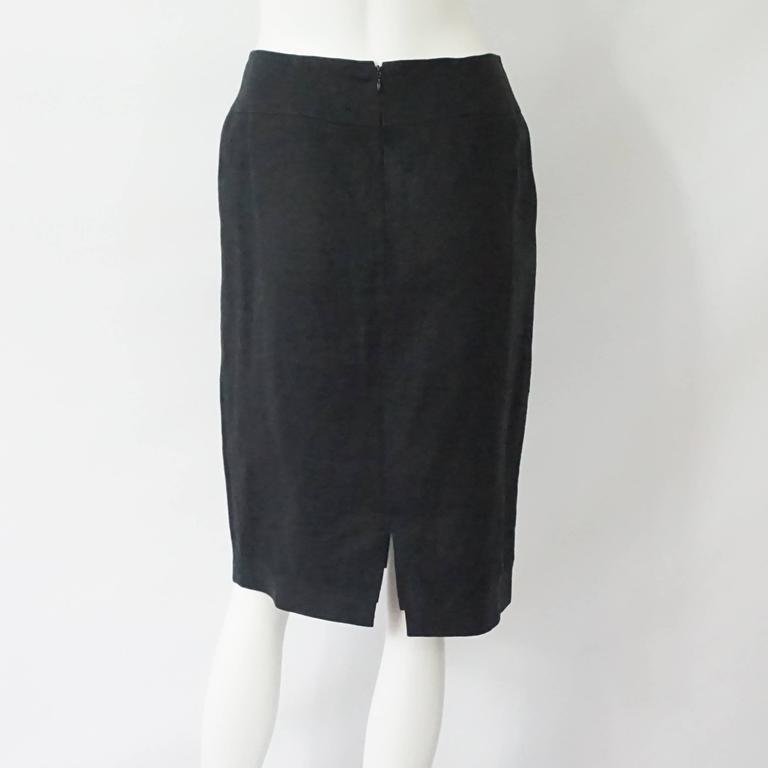 Palm Beach Chic Circa 1990s: Chanel Black Linen Nautical Style Skirt