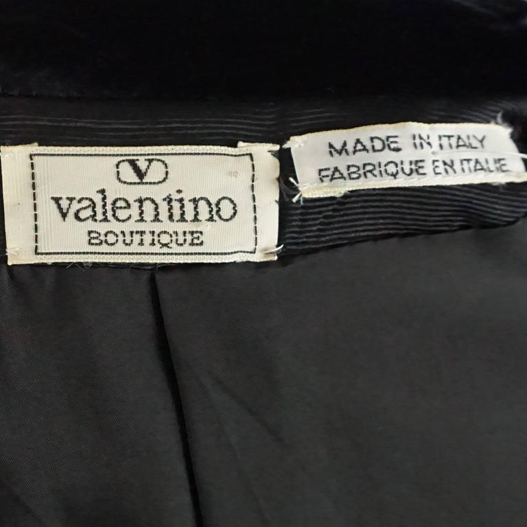 Women's Valentino Turquoise lightweight wool tuxedo style jacket-8-Circa 80's For Sale