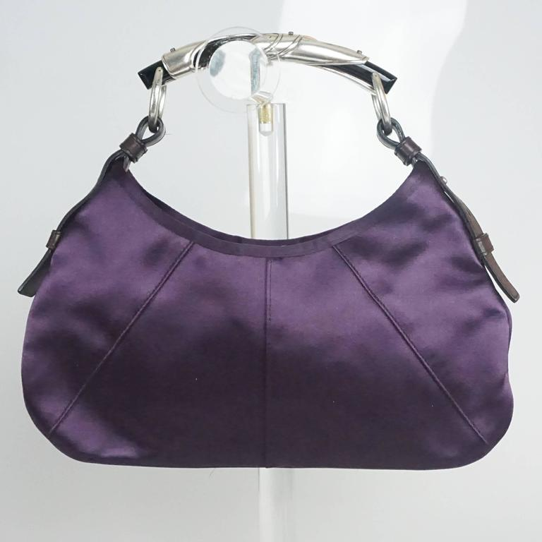 Tom Ford for Yves Saint Laurent Purple Satin Mombasa Bag For Sale at ... b0e9a1948f714