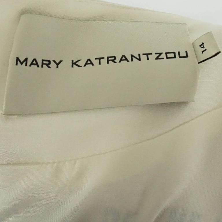 Mary Katrantzou Black and White Silk Printed Shift Dress - 14 For Sale 2